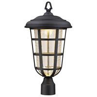 Designers Fountain Triton 1 Light Post Lantern in Black LED33916-BK