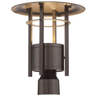 Designers Fountain Englewood 1 Light Post Lantern in Burnished Bronze LED34036-BNB