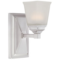 Designers Fountain Trenton 1 Light LED Wall Sconce in Satin Platinum LED67801-SP