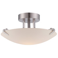 Archer 1 Light 120 Satin Platinum Semi-Flush Ceiling Light