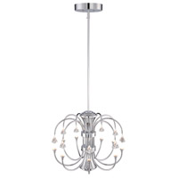 Galaxy LED 24 inch Chrome Chandelier Ceiling Light