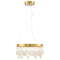 Designers Fountain Lucienne 1 Light Pendant in Luxor Gold LED88132-LXG