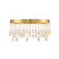 Lucienne 1 Light 120 Luxor Gold Pendant Ceiling Light