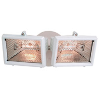 Designers Fountain Quartz Halogen 2 Light Security Light in White Q152-06