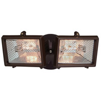 Designers Fountain Quartz Halogen 2 Light Security Light in Distressed Bronze Q152-87
