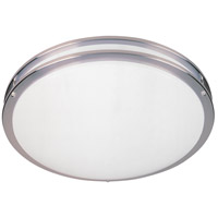 Round Fluorescent 2 Light 16 inch Satin Nickel Flushmount Ceiling Light