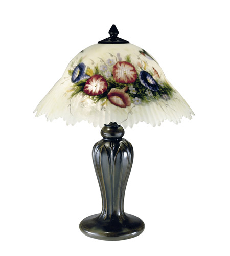 Dale Tiffany 10190/706 Humingbird Flower 19 inch 60 watt Antique Bronze Table Lamp Portable Light photo