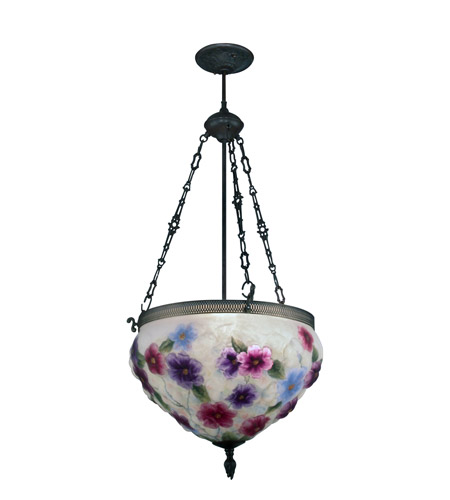 Dale Tiffany 10237/3LTE Cosmos 3 Light 18 Inch Antique Bronze Paint Hanging  Fixture Ceiling Light