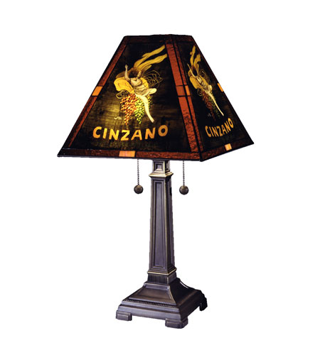 Dale tiffany cinzano 1 light table lamp in antique brass 10250 958 photo