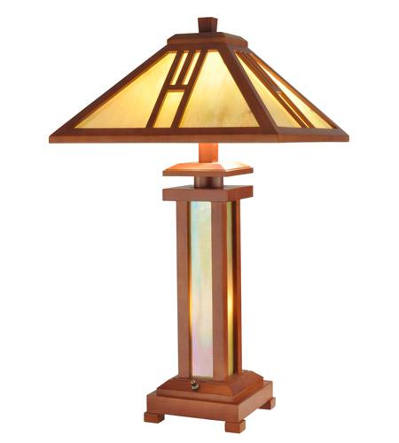 Dale Tiffany Wood Mission Table Lamp 3 Light in Oak 2401 photo