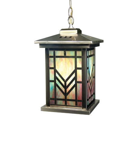 Dale Tiffany Multi Color Imperial 1 Light Hanging Lantern in Antique Brass 2458/1LTH photo