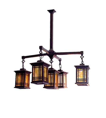 Dale Tiffany Avery Lantern 5 Light Pendant in Antique Bronze 2604/5LMH photo