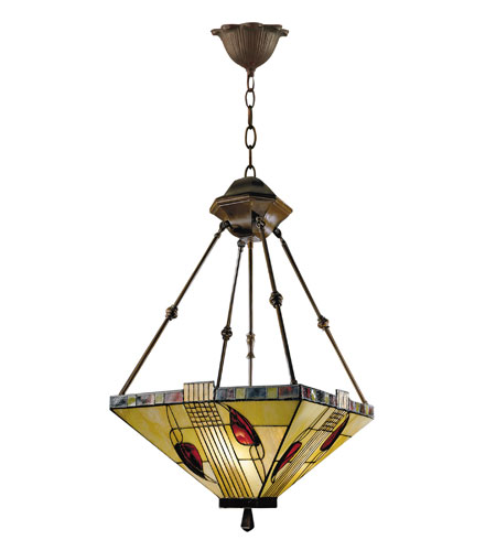 Dale Tiffany Henderson Inverted Fixture 3 Light in Antique Bronze 2720/3LTY photo