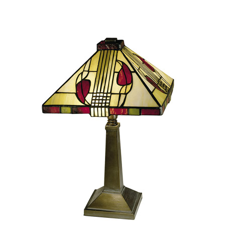 Dale Tiffany 2724/797 Henderson 15 inch 60 watt Antique Bronze Paint Table Lamp Portable Light photo
