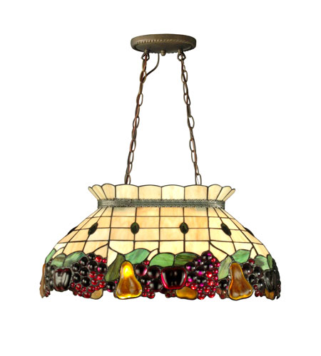 Dale Tiffany Fruit Pool Table Hanging Fixture 2 Light In