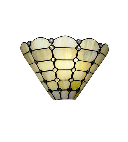 Dale Tiffany Beige Geometric Wall Sconce 1 Light 7411/1LTW photo