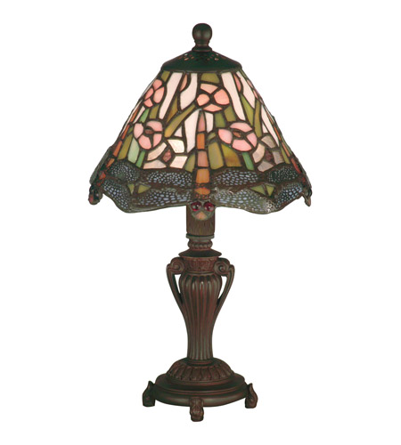 Dale Tiffany 8033/640 Dragonfly 13 inch 25 watt Antique Bronze Accent Lamp Portable Light photo