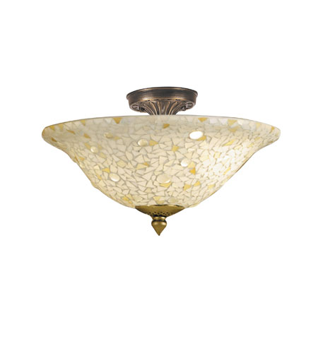 Dale Tiffany Mosaic Clear 3 Light Flush