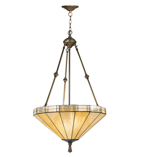 Dale Tiffany Umbrella Filigree Hanging Fixture 3 Light in Antique Brass Plating 8642/3LTJ photo