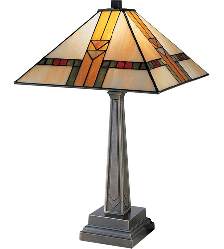 Dale Tiffany 8655/551 Evelyn 21 inch 100.00 watt Antique Brass Table Lamp Portable Light