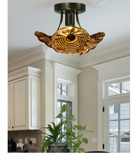 Dale Tiffany AH15481LED Burnt Sienna LED 12 inch Copper Bronze Semi-Flush Mount Ceiling Light AH15481LED_2.jpg