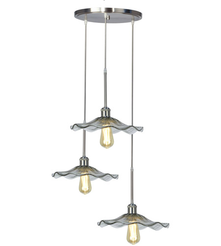 Dale Tiffany AH16069LED Springdale LED 18 inch Satin Nickel Pendant Ceiling Light photo