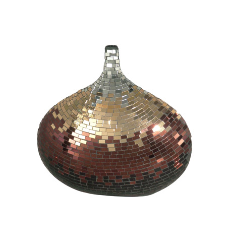 Dale Tiffany Metalic Mosaic Decorative Vase AV10722 photo