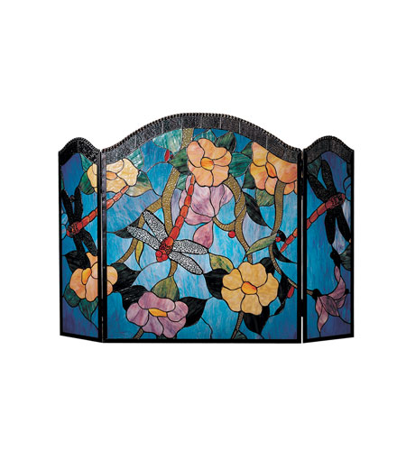 Dale Tiffany Dragonfly Fireplace Screen 2 Light FS0100 photo