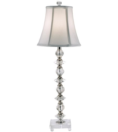 Dale Tiffany Chrome Crystal Table Lamps