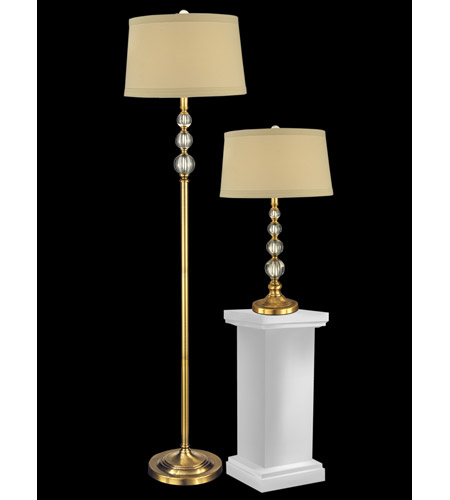 inch 100 watt antique brass table floor lamp set portable light photo. Black Bedroom Furniture Sets. Home Design Ideas