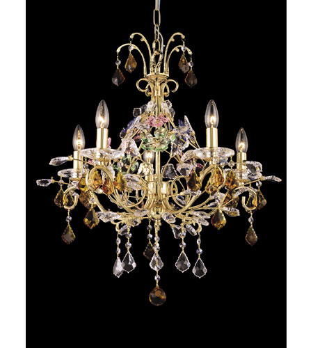 Dale Tiffany Harlow 5 Light Chandelier in Gold GH80253 photo