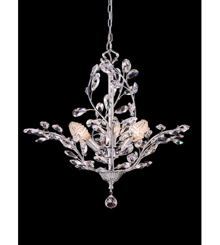 Dale Tiffany Teddington 3 Light Chandelier in Polished Chrome GH80263 photo