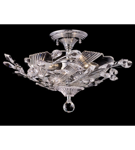 Dale Tiffany Kilburn 3 Light Semi-Flush Mount in Polished Chrome GH80285 photo