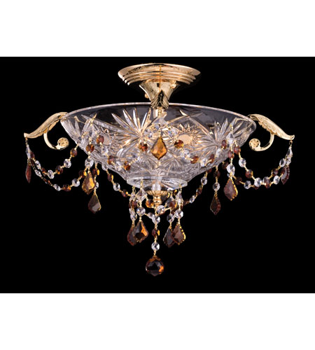 Dale Tiffany St Ives 3 Light Semi-Flush Mount in Gold GH80343 photo
