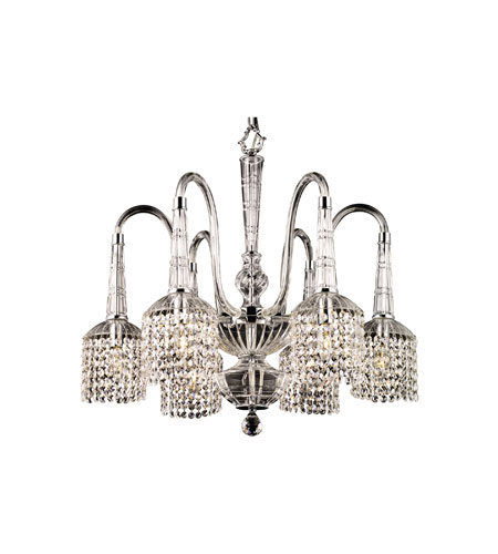 Dale Tiffany Kings Lynn 6 Light Chandelier in Polished Chrome GH90102 photo