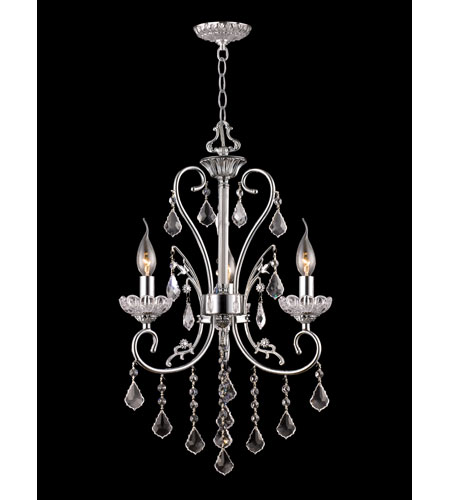 Dale Tiffany Eastbridge 3 Light Chandelier in Polished Chrome GH90123 photo