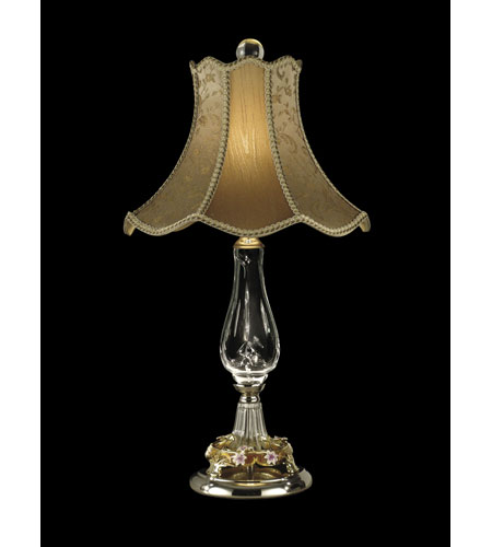 Dale Tiffany Victorian Table Lamp 1 Light in Polished Chrome GT10019 photo