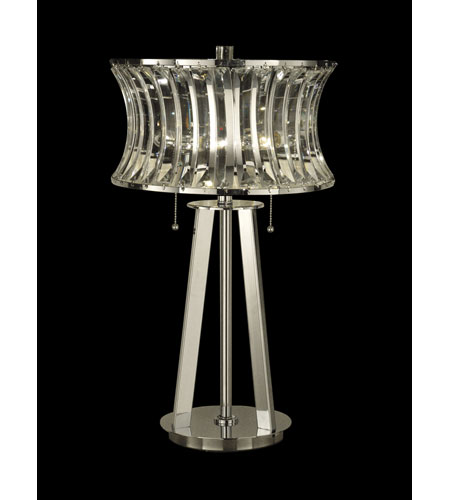 Dale Tiffany Crystal Table Lamp 2 Light in Nickel GT10241 photo