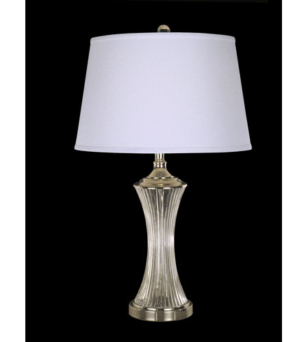 Dale Tiffany Wheeler Crystal Table Lamp 1 Light in Polished Chrome GT10413 photo
