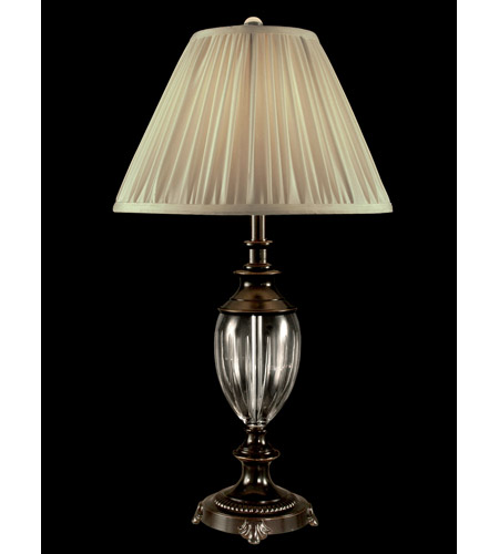 Dale Tiffany GT11223 Josie Crystal 30 inch 100 watt Oil Rubbed Bronze Table Lamp Portable Light photo