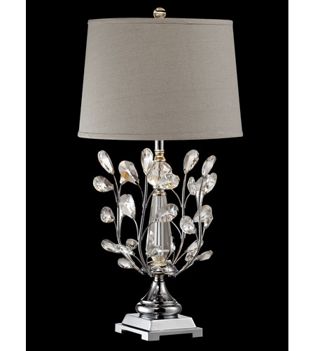 Blossom 30 inch 100 watt polished chrome table lamp for 100 watt table lamps