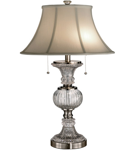 Dale Tiffany Granada Table Lamp 2 Light in Brushed Nickel GT60653 photo