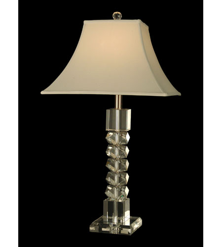 Dale Tiffany Napoli 1 Light Table Lamp in Brushed Nickel GT60866 photo