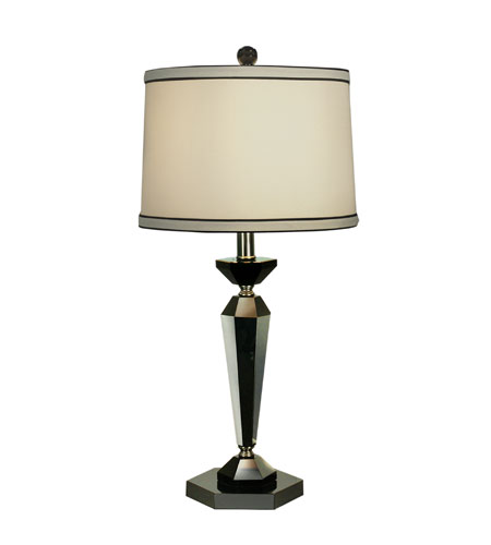 Dale Tiffany Le Mans Table Lamp 1 Light in Black Nickel GT70036 photo