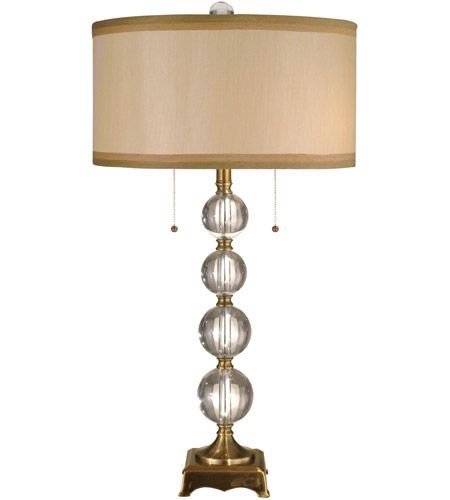Dale Tiffany Aurora Crystal Lamp 2 Light in Antique Brass GT701217 photo