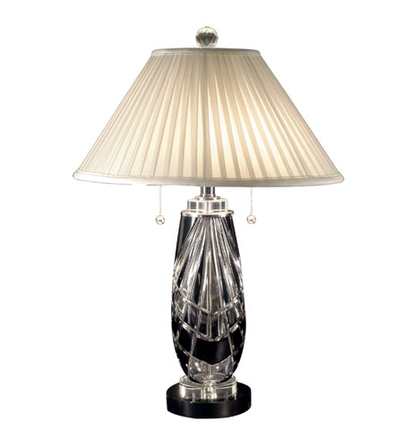 Dale Tiffany Black Shield Table Lamp 2 Light in Black Nickel GT70685 photo