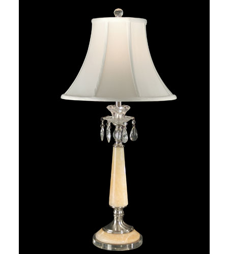 Dale Tiffany Clarissa Crystal 1 Light Table Lamp in Brushed Nickel GT80020 photo