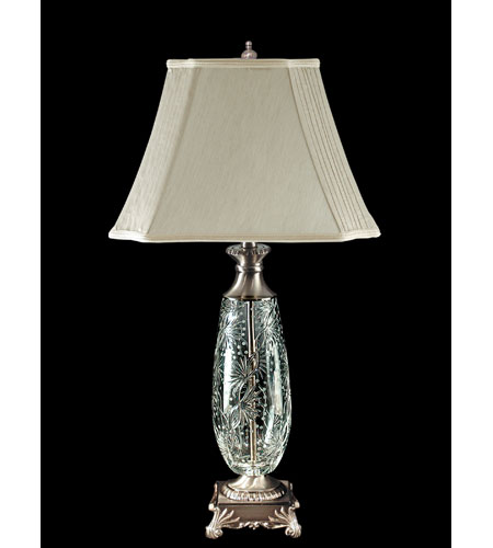 Dale Tiffany Luciana Crystal Table Lamp 1 Light in Antique Pewter GT80115 photo