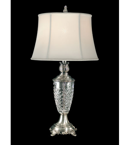 Dale Tiffany Sarah Crystal Table Lamp 1 Light in Antique Pewter GT80118 photo