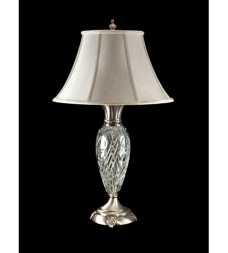Dale Tiffany Crystal Table Lamp 1 Light in Antique Pewter GT80184 photo